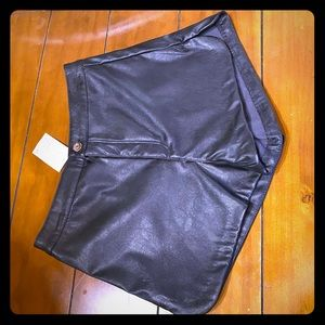 H&M faux leather shorts NWT